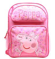 """Backpack Peppa Pig Pink Flowers 16"""" School Bag PI34980"""