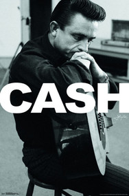 "Poster Studio B Johnny Cash Cash Sitting 36x24"" Wall Art p6978"