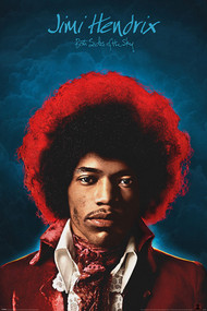 "Poster Studio B Jimi Hendrix Both Sides Sky 36x24"" Wall Art p4461"