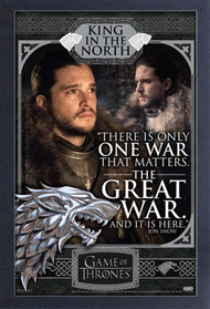 "Poster Studio B Game of Thrones Jon SnowGreat War 36x24"" Wall Art p1674"
