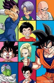 "Poster Studio B Dragon Ball Z Grid 36x24"" Wall Art p7190"