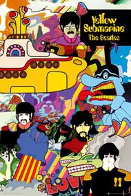 "Poster Studio B BeatlesYellow Sub Collage 36x24"" Wall Art p3422"
