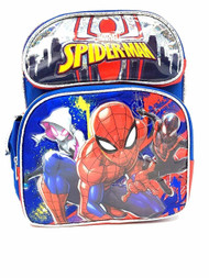 "Small Backpack Marvel Spiderman 12"" Blue 004804"