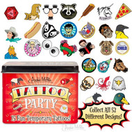 Character Goods Archie McPhee Tattoo Party 15 In Tin 12639