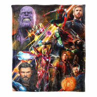 "Silk Touch Throw Marvel Avengers 3 Team Infinity New 45x60"" Blanket"