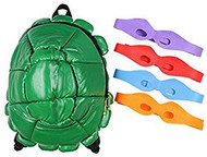 Backpack Teenage Mutant Ninja Turtles Shell Green w/4 Masks bp142833