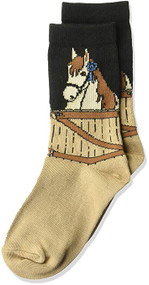 Kid's Crew Socks K Bell Kid's Blue Ribbon Horse Black (7-8.5)