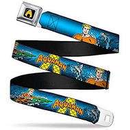 Seatbelt Belt  DC Comics Aquaman V.4 Adj 24-38' Mesh New aqb-waq006