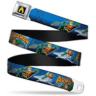 Seatbelt Belt  DC Comics Aquaman V.5 Adj 24-38' Mesh New aqb-waq005