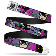 Seatbelt Belt DC Comics Cat Woman V.3 Adj 24-38' Mesh dco-wcw003