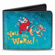 Wallet Ren and Stimpy V.5 Bi-Fold puw-rne
