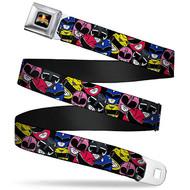 Seatbelt Belt Power Rangers V.13 Adj 24-38' Mesh pra-wpr018