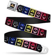 Seatbelt Belt Power Rangers V.16 Adj 24-38' Mesh pra-wpr002