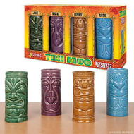 Glass Set Archie McPhee Tiki Set Of Four Mug 10795