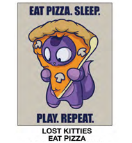 "Super Soft Throws Lost Kitties Eat Pizza 45x60"" Blanket"