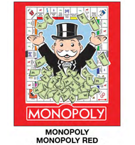 "Super Soft Throws Monopoly Monopoly Red 45x60"" Blanket"