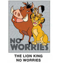"Super Soft Throws The Lion King No Worries New 45x60"" Blanket"