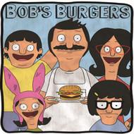 Blanket Bobs Burgers Bob with a Burger Throw Fleece cfb-bob-fcdn