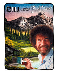 Blanket Bob Ross BobRoss Chill Throw Fleece cfbf-ross-chlspr