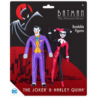 Action Figures DC Comics Joker & Harley Quinn Bendable Pair dc-3938