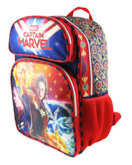 "Backpack Captain Marvel Superhero Girl 16"" 008888"