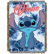 Woven Tapestry Throws Lilo & Stitch Shibori Stitch 024080