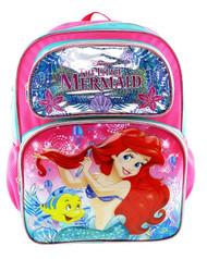 "Backpack The Little Mermaid Seashore 16"" 009052"