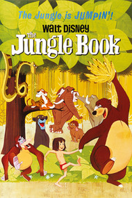 "Poster Studio B Jungle Book Jumpin 36x24"" Wall Art P3863"