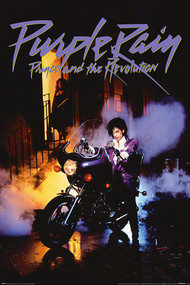 "Poster Studio B Prince Purple Rain 36x24"" Wall Art P4421"