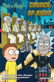 "Poster Studio B Rick & Morty Council Of Ricks 36x24"" Wall Art P4324"
