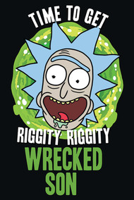"Poster Studio B Rick & Morty Wrecked Son 36x24"" Wall Art P4255"