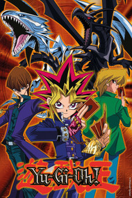 "Poster Studio B Yu Gi Oh! Group 36x24"" Wall Art P4251"