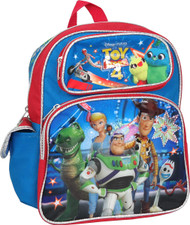 "Small Backpack Toy Story 4 Woody Buzz Rex Forky 12"" 009335"