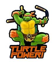 Magnet  TNMT Ninja Turtle Micheangelo Soft Touch Figure 63031