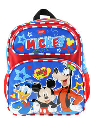"Small Backpack Mickey Mouse Hey Friends 12"" 007867"
