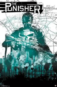 "Poster Studio B Punisher Map 24""x36"" Wall Art p4300"