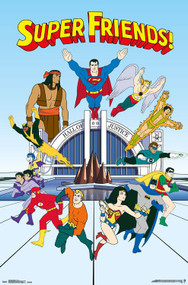 "Poster Studio B Superfriends Team 23""x35"" Wall Art p4218"