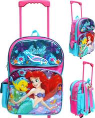 "Large Rolling Backpack Disney The Little Mermaid Ariel 16"" 005030-2"