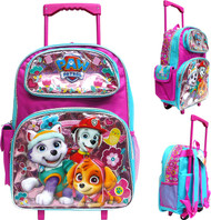 """Large Rolling Backpack Paw Patrol Pink 16"""" 004880-2"""