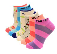 Kid's Crew Socks K Bell Rugby Striped Six Pair PackPink Assorted (7-8.5)