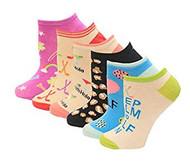 Kid's Crew Socks K Bell Lucky Golf Socks Six Pair PackPurple Assorted (7-8.5)