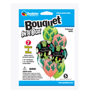 Party Supplies Pioneer 7 ct.Balloon Bouquet-in-a-Box Set Birthday Cactuses 89062