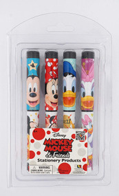 4 Pieces Ball Pen Set Disney Blister Card 85237