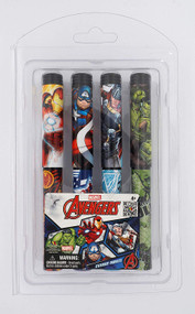 4 Pieces Ball Pen Set Marvel Blister Card 68337