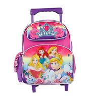 Small Rolling Backpack Disney Princess Vibrant Rainbow 655976