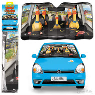 Character Goods Archie McPhee Car Full Of Rubber Chickens Auto Sunshade 12857