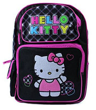 Backpack Hello Kitty Black Embroidered 813519