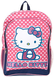 Backpack Hello Kitty Hearts Glitter Pink 826144