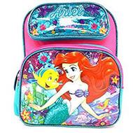 "Small Backpack Disney Little Mermaid Ariel Glitter 12"" 004996-2"