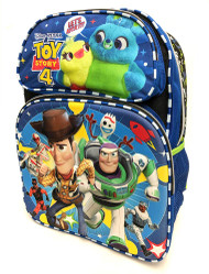 Backpack Disney Toys Story 4 Blue Buzz Woody Team 3D Pop-up 178000-2